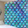 Home Decor Mermaid Fish Scales Wall Tapestry - LIGHT BLUE W59 INCH * L51 INCH