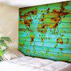 Decorative Wall Hanging World Map Print Tapestry - BLUE W59 INCH * L79 INCH