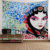 Home Decor Peking Opera Print Tapestry - coloré W59 INCH * L51 INCH