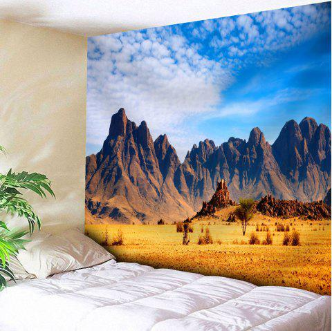 Home Wall Hanging Mountain Microfiber Tapestry - BLUE W59 INCH * L59 INCH
