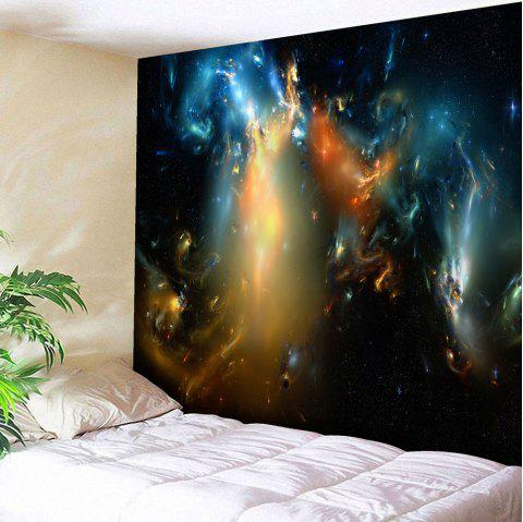 Microfiber Wall Hanging Magic Aurora Tapestry - STARRY SKY PATTERN W59 INCH * L79 INCH