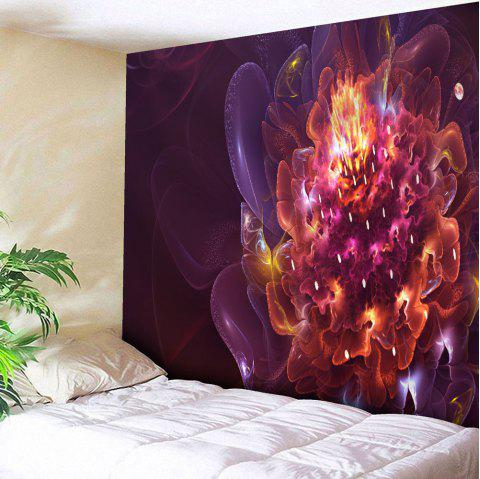Magic Flower Print Wall Hanging Microfiber Tapestry - RED W59 INCH * L79 INCH