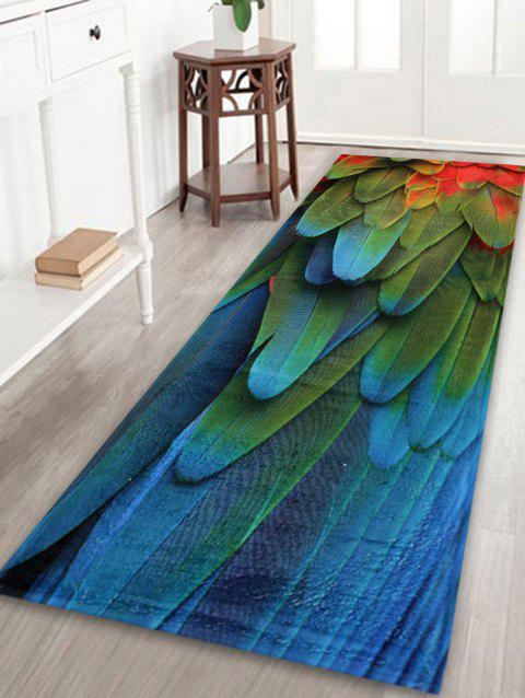 Feather Pattern Home Floor Extra Large Rug - COLORMIX W24 INCH * L71 INCH