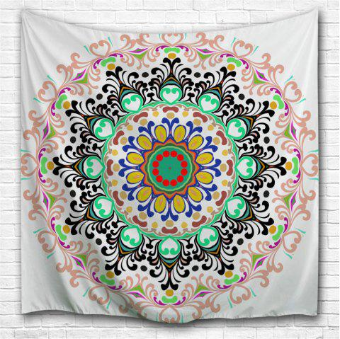 Indian Mandala Beach Blanket Wall Art Tapestry - COLORMIX W59 INCH * L59 INCH