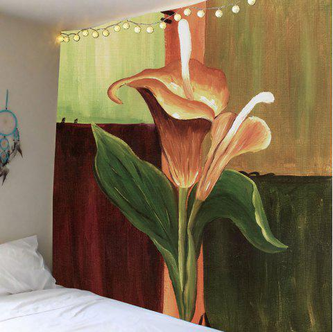 Oil Painting Flower Wall Tapestry - COLORFUL W59 INCH * L59 INCH