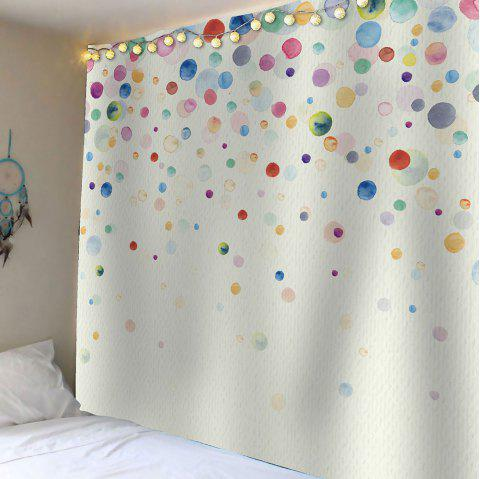 Ink Painting Dotted Waterproof Wall Art Tapestry - COLORFUL W59 INCH * L59 INCH