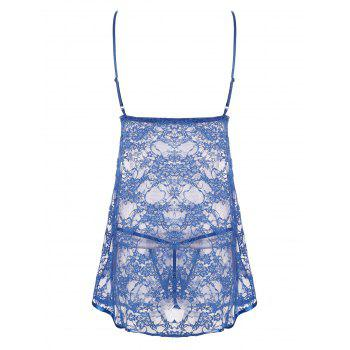 Lace Sheer Slip Babydoll Dress - 2XL 2XL