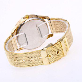 Roman Numeral Mesh Steel Strap Watch -  WHITE