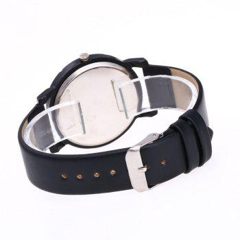 Faux Leather Glitter Ombre Watch -  BLACK