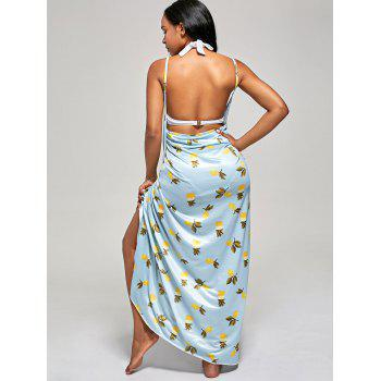 Pineapple Wrap Maxi Cover Up Dress - XL XL