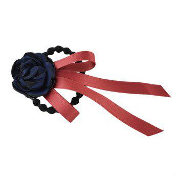 Rose Floral Ribbon Elastic Hair Band