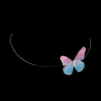 Yarn Rhinestone Butterfly Choker Necklace - COLORMIX COLORMIX