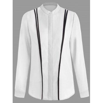 Button Up Two Tone Work Shirt
