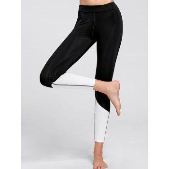 Color Block  Ankle Compression Leggings
