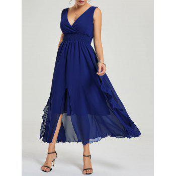 Empire Waist Chiffon Ruffle Dress