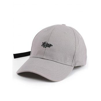 Long Tail Letters Embroidered Baseball Hat