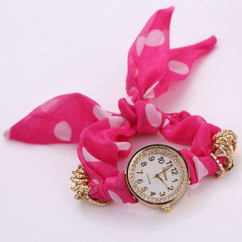 Polka Dot Fabric Bracelet Watch - TUTTI FRUTTI