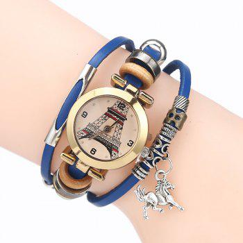 Effiel Tower Charm Bracelet Watch - BLUE BLUE