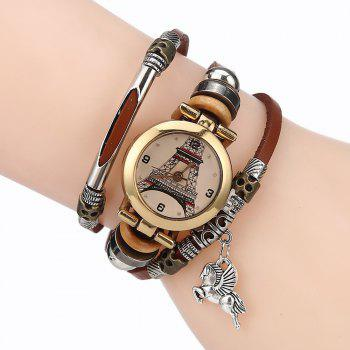 Effiel Tower Charm Bracelet Watch