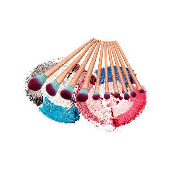 Ensemble de brosse à maquillage en forme de nacre 10 pcs - Or Rose