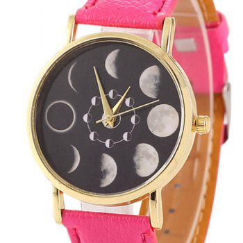 Faux Leather Lunar Eclipse Face Watch - TUTTI FRUTTI