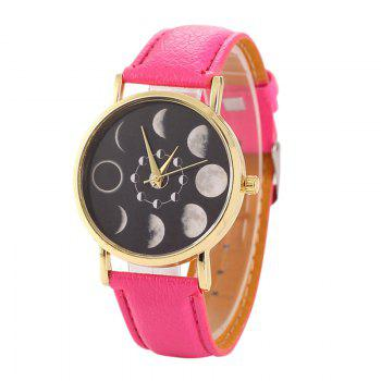 Faux Leather Lunar Eclipse Face Watch - TUTTI FRUTTI TUTTI FRUTTI