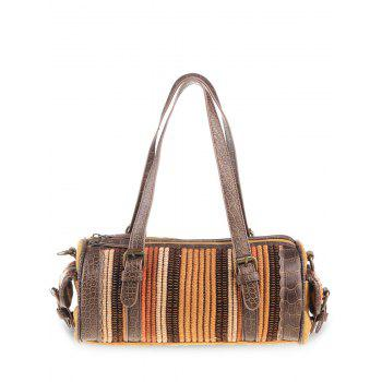 Ethnic Cylinder Shaped Canvas Tote Bag - GINGER GINGER