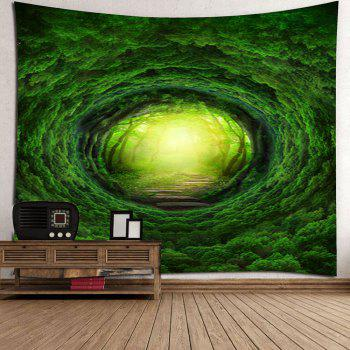 Nature Tree Hole Wall Art Tapestry - GREEN W59 INCH * L51 INCH
