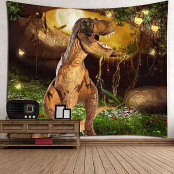 Dinosaur Garden Butterfly Wall Tapestry - COLORFUL W59 INCH * L51 INCH