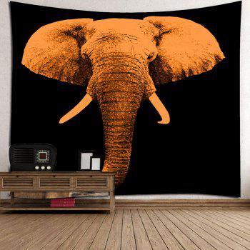 Home Decor Elephant Printed Wall Art Tapestry - BROWN W79 INCH * L59 INCH