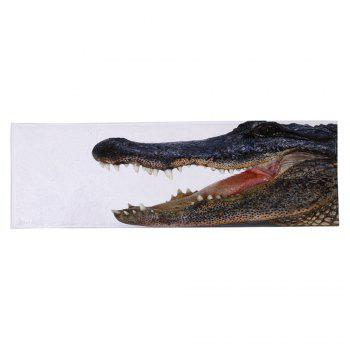 Kitchen Bathroom Floor Crocodile Large Area Rug - WHITE W16 INCH * L47 INCH