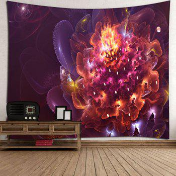 Magic Flower Print Wall Hanging Microfiber Tapestry - RED W51 INCH * L59 INCH