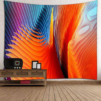 Microfiber Wall Hanging Colorful Twisted Striped Tapestry - COLORFUL GEOMETRIC W59 INCH * L59 INCH