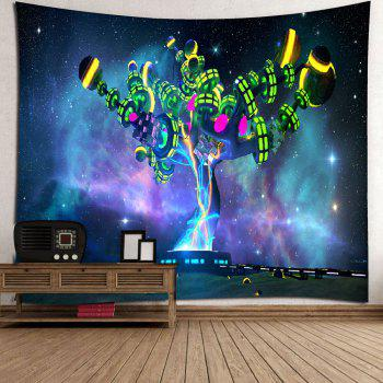 Microfiber Wall Hanging Alien Magic Tree Printed Tapestry - STARRY SKY PATTERN STARRY SKY PATTERN