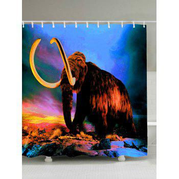 Waterproof Mammoth Elephant Print Shower Curtain