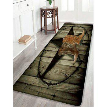 Cowboy Shoes Pattern Indoor Outdoor Area Rug