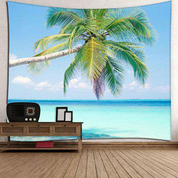 Coconut Palm Pattern Wall Hanging Microfiber Tapestry - BLUE W59 INCH * L79 INCH