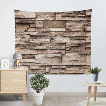 Brick Wall Hanging Printed Home Decor Tapestry - YELLOW W59 INCH * L79 INCH
