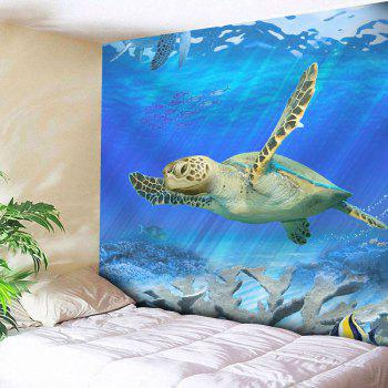 Wall Hanging Sea Turtle Print Microfiber Tapestry