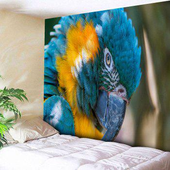 Microfiber Wall Hanging Parrot Printed Tapestry