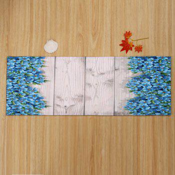 Plank Floral Large Soft Absorption Bathroom Rug - COLORMIX W24 INCH * L71 INCH