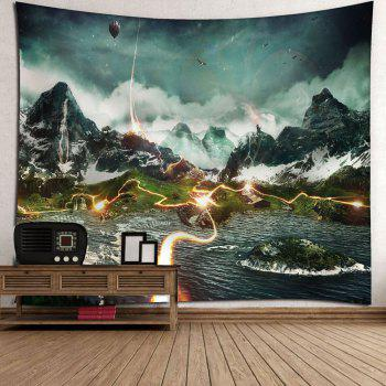 Microfiber Wall Hanging Valley Lightning Printed Tapestry - COLORMIX W59 INCH * L59 INCH