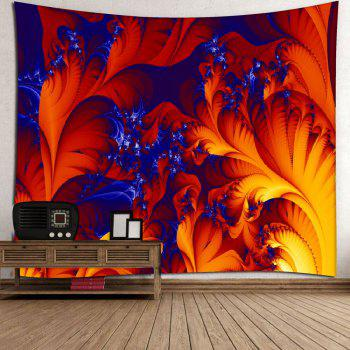 Microfiber Wall Hanging Fire Plant Printed Tapestry - RED W51 INCH * L59 INCH