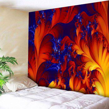 Microfiber Wall Hanging Fire Plant Printed Tapestry - RED RED