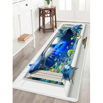 Sea Dolphin 3D Pattern Indoor Outdoor Area Rug - COLORMIX COLORMIX
