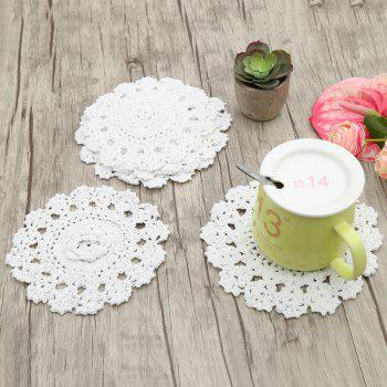 Handmade Round Flower Crochet Table Placemats