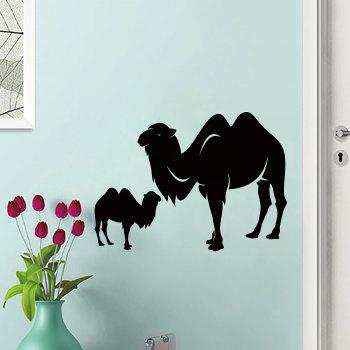 Camel Animal Vinyl Wall Sticker For Bedroom - BLACK BLACK