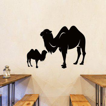 Camel Animal Vinyl Wall Sticker For Bedroom - BLACK 57*41CM