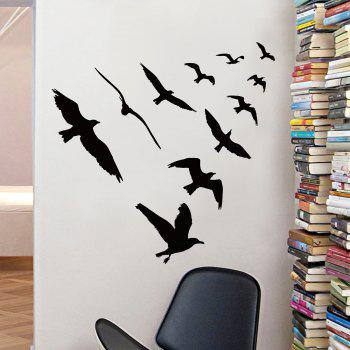 Decorative Vinyl Birds Group Wall Sticker - 57*67CM 57*67CM