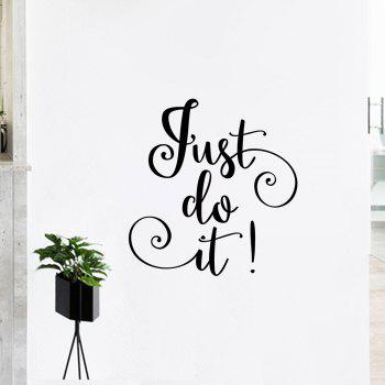 Inspirational Just Do It Letter Wall Sticker